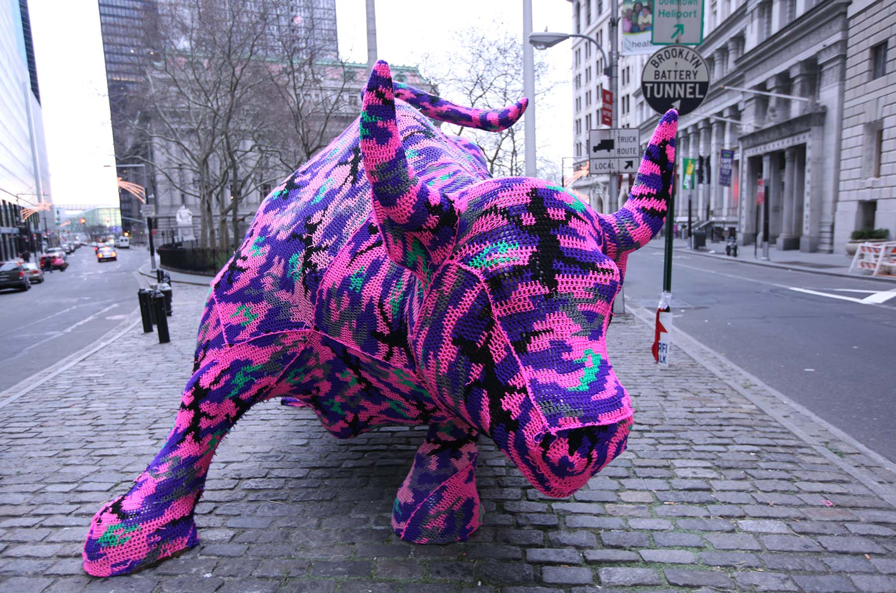 international female artist, womens rights, interventions, olek, famous wrapping art