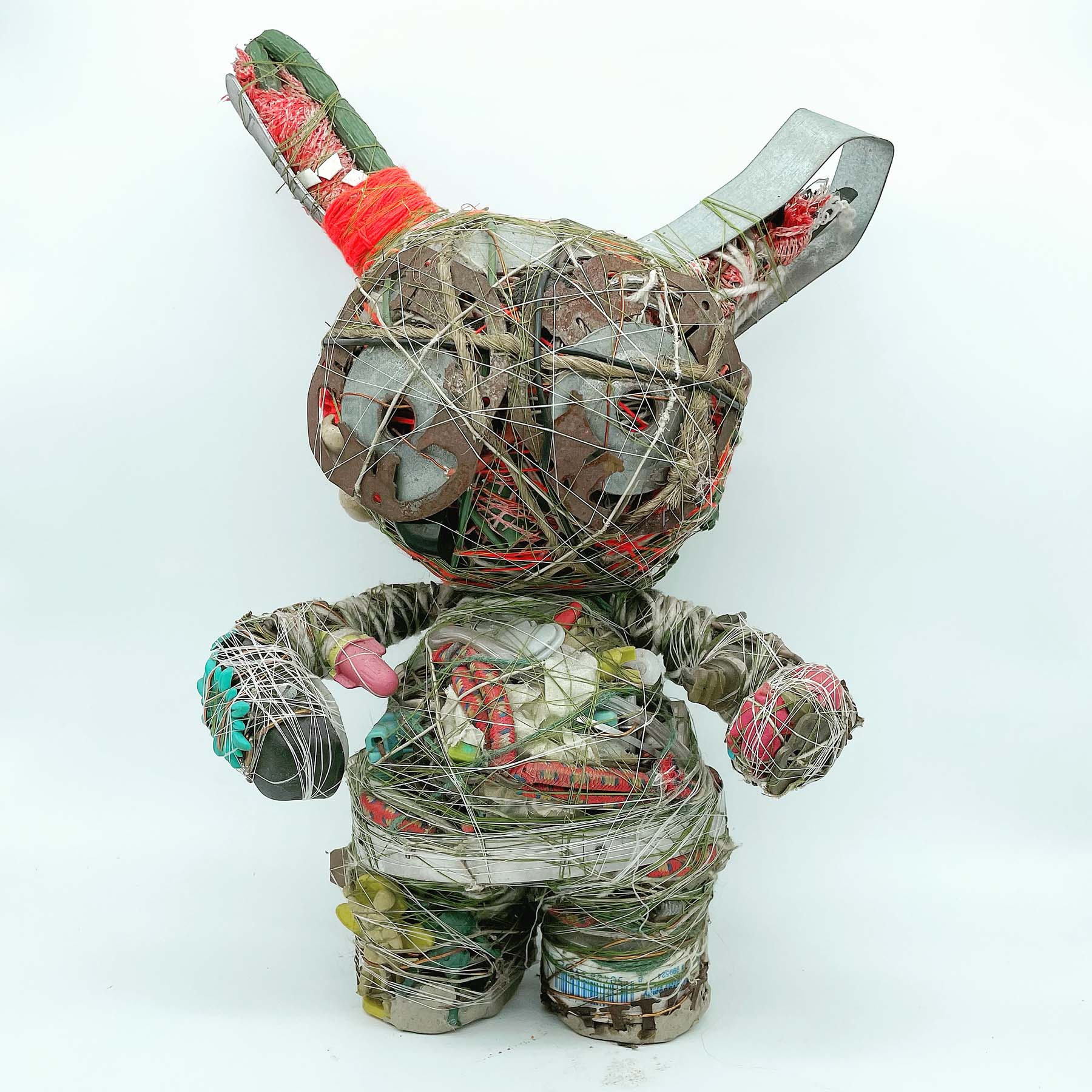 junk warrior, hoarder, wrapping artist, small objects, sea, baltimore, american