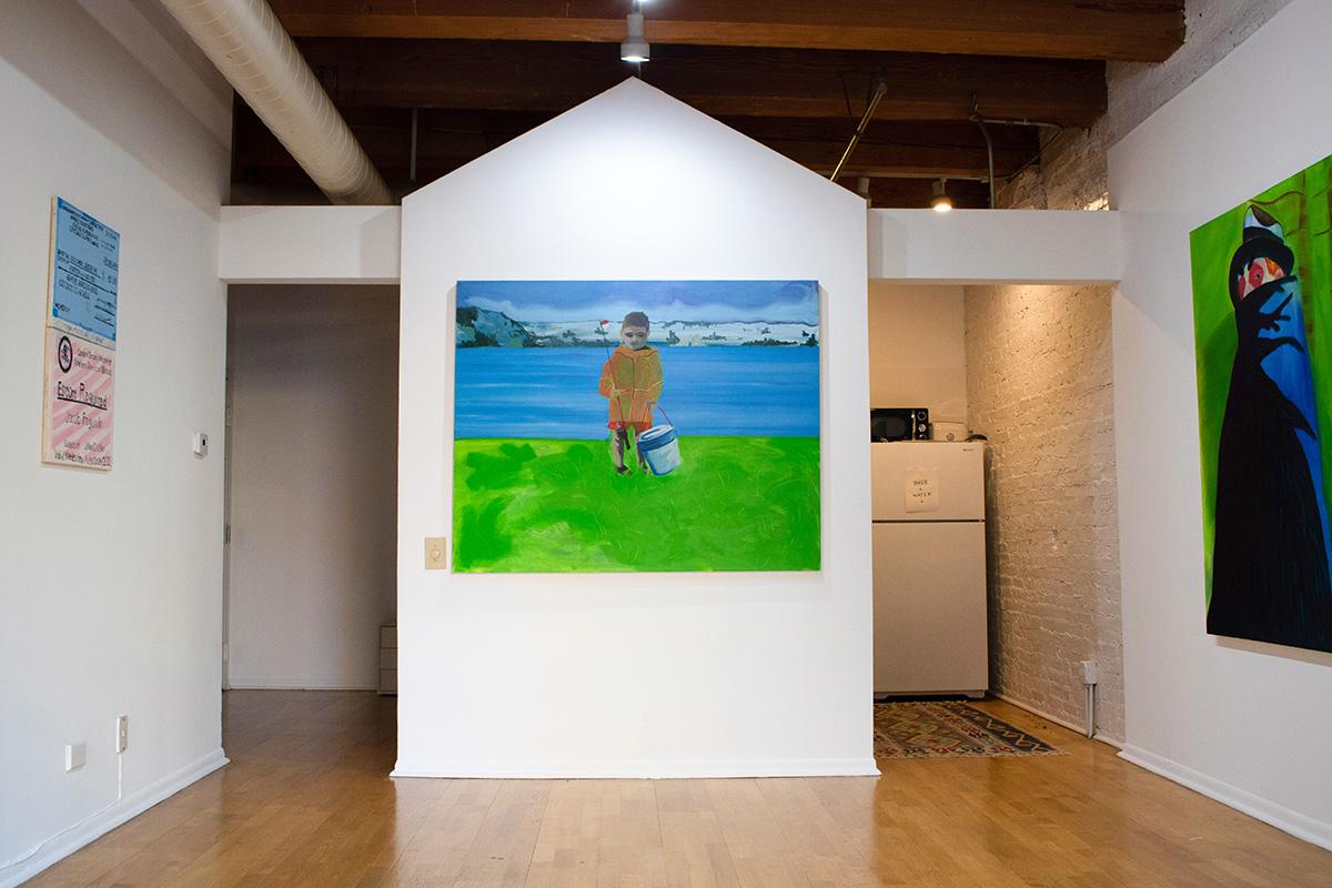 installation view, viewing room, art, jake fagundo, chicago