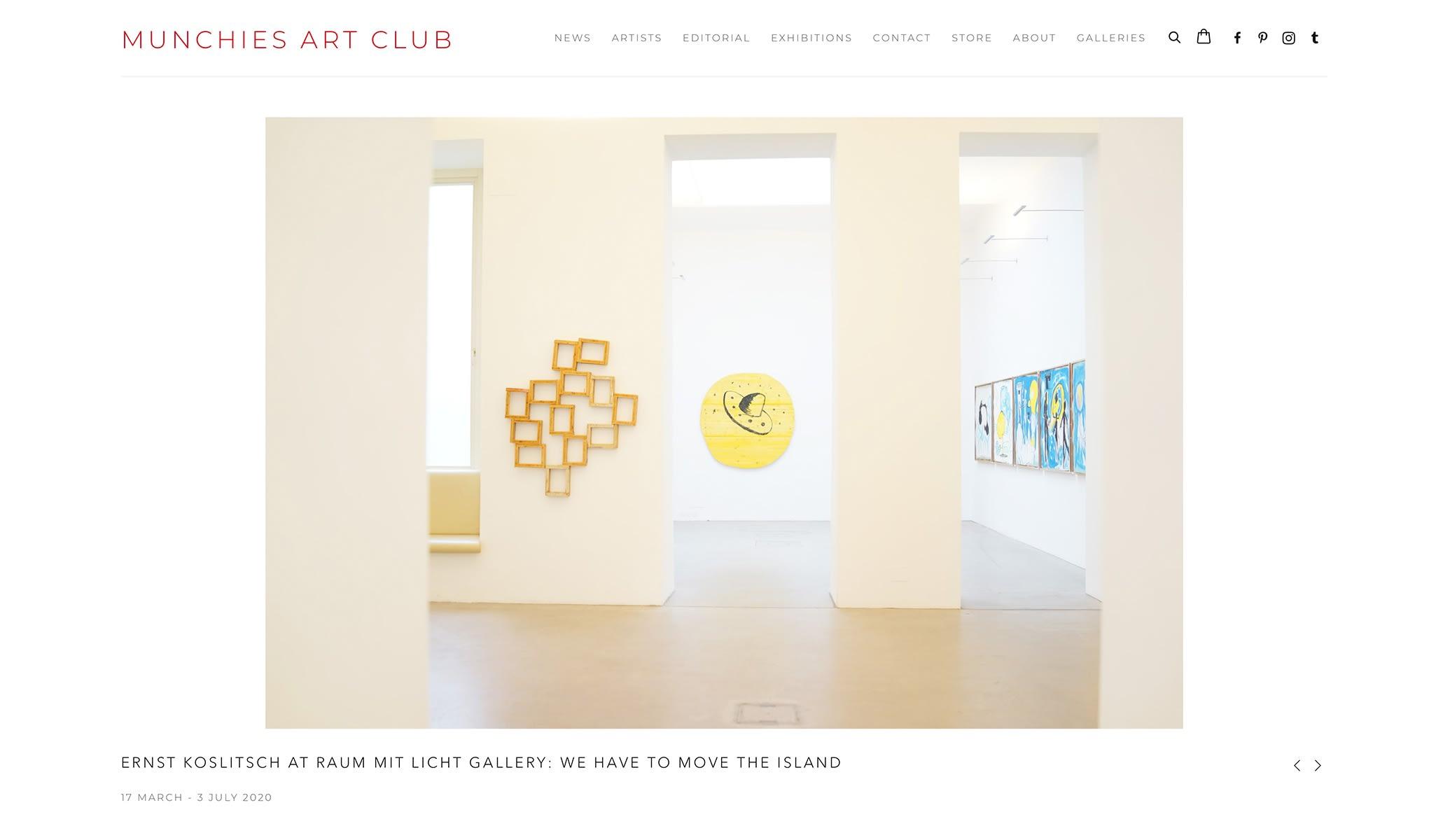 munchies art club, gallery raum mit licht, vienna