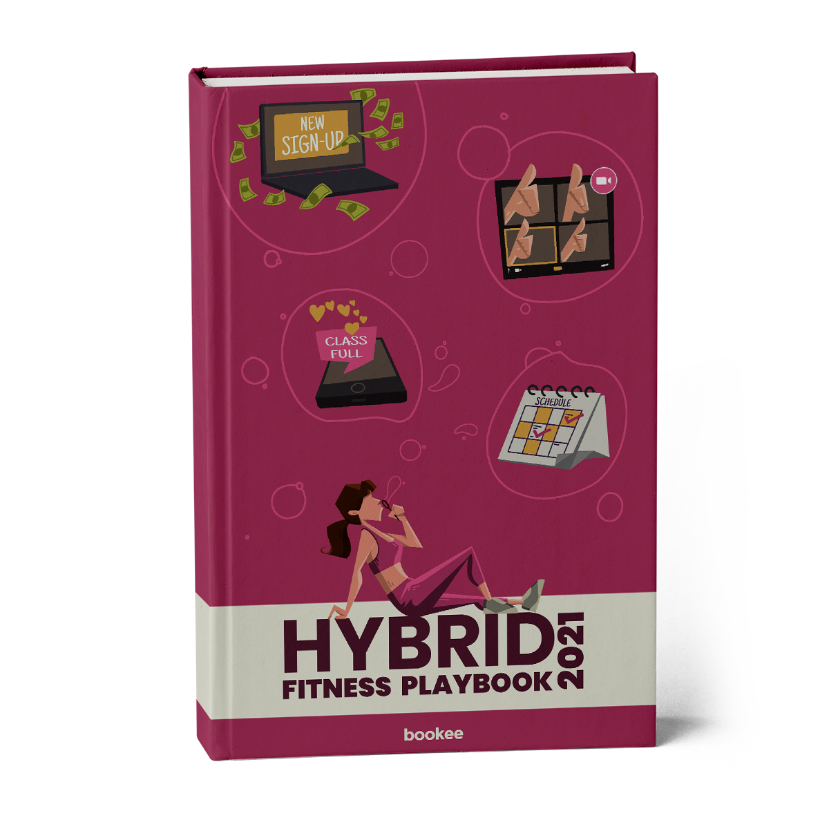 Ebook Hybrid Fitness Playbook 2021 for fitness businesses PDF by Book Software