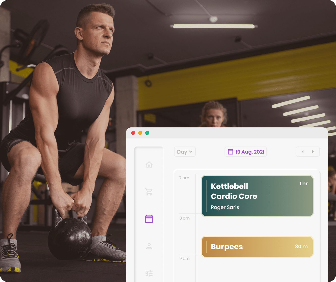 Woman checking her past payment history at her fitness studio
