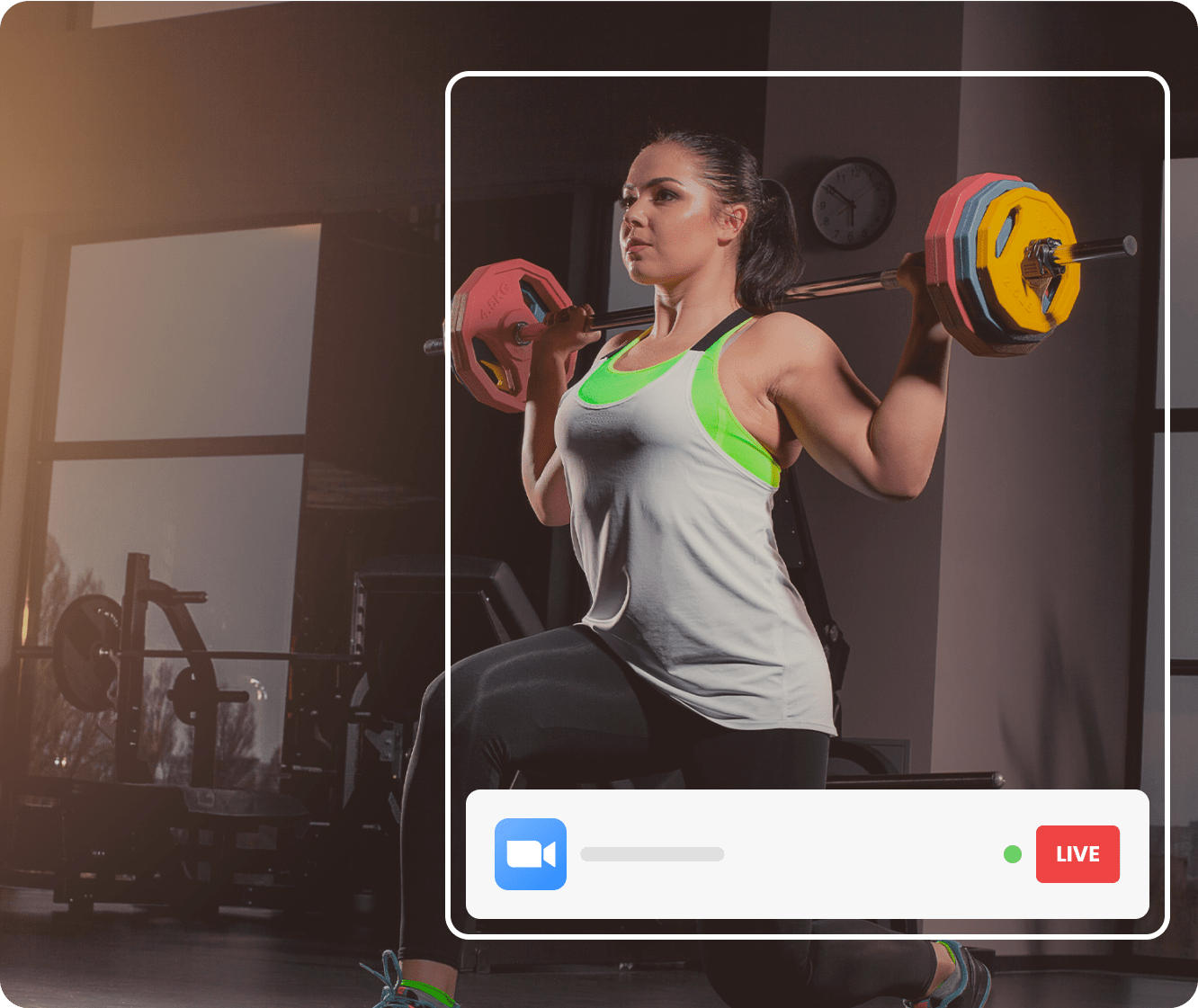 Woman picking up a heavy barbell