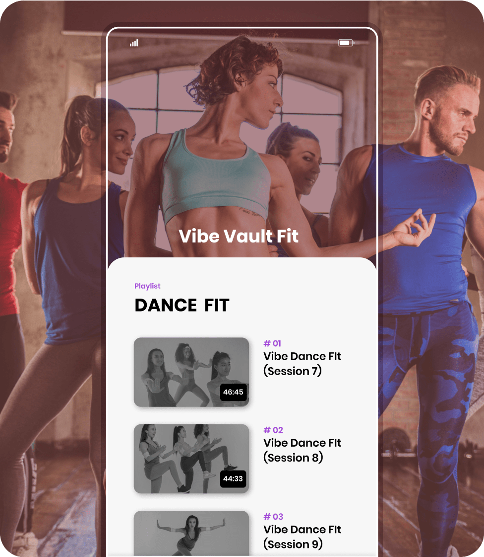 Bookee's mobile app with on-demand dance videos