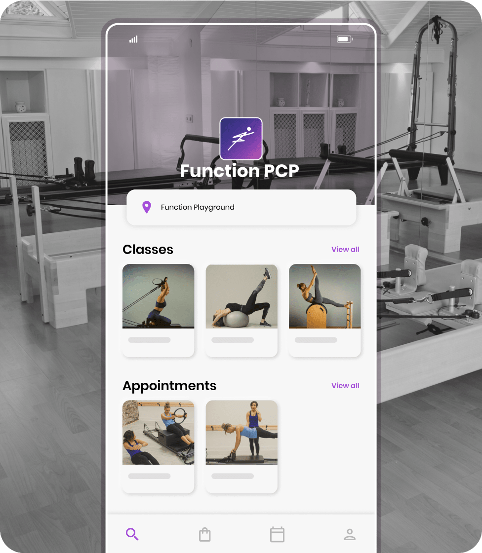 Bookee's branded mobile apps for booking boutique classes and appointments