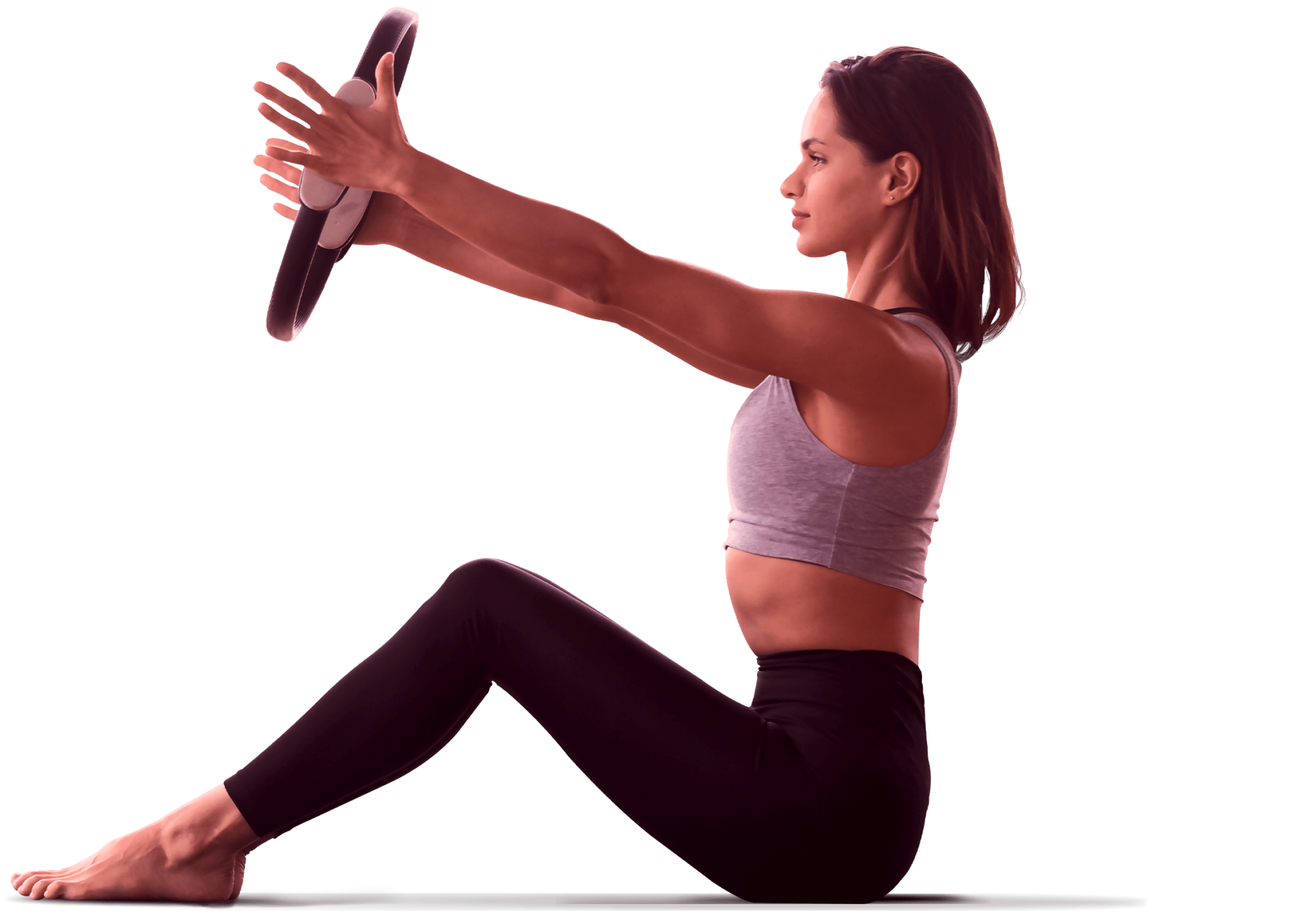 Woman performing a pilates exercise