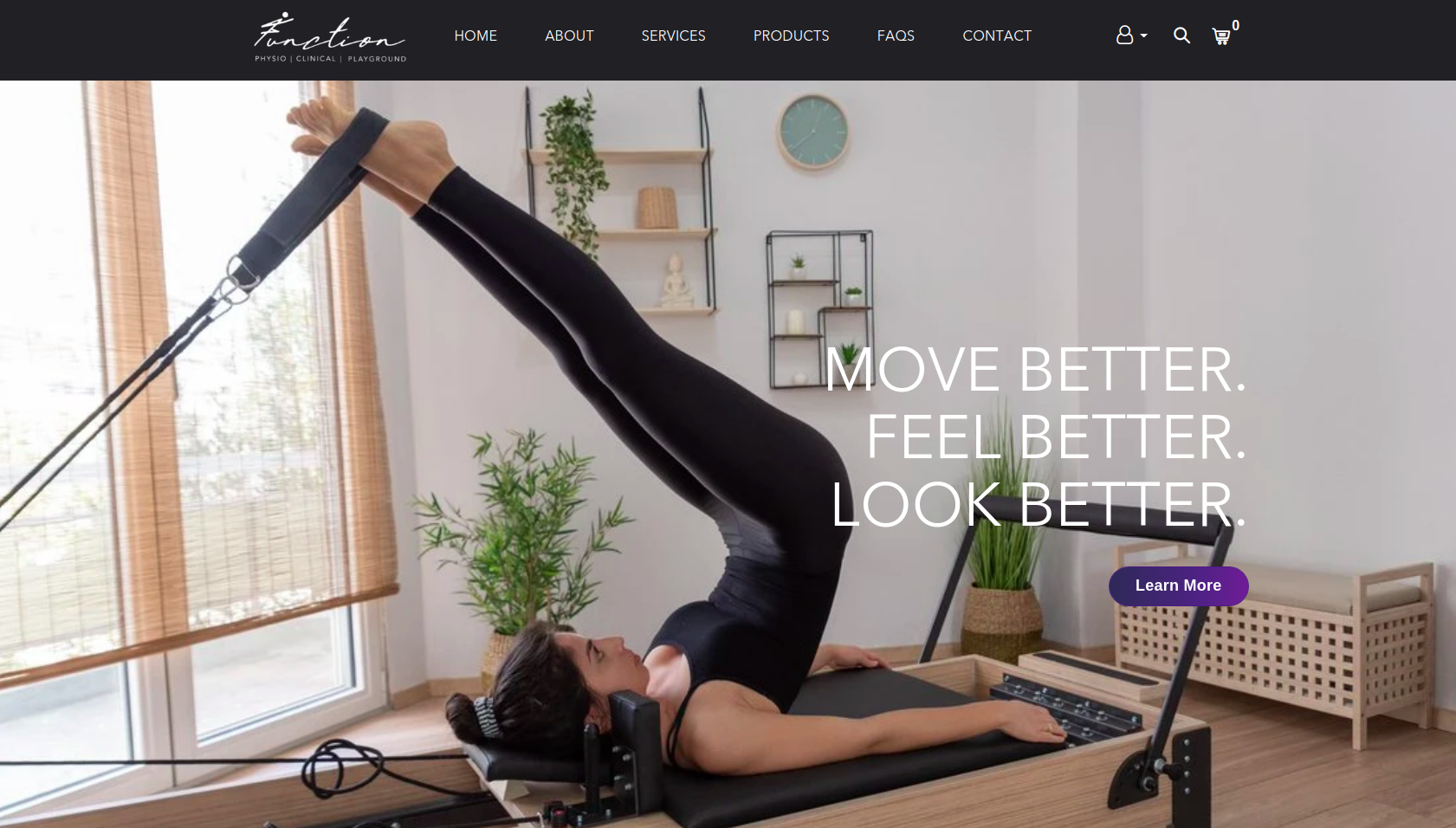Function PCP's fitness website with multiple pages like booking & pricing, powered by bookee