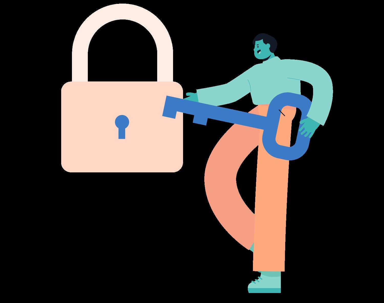 ReturnKey Illustration - Human Holding Key