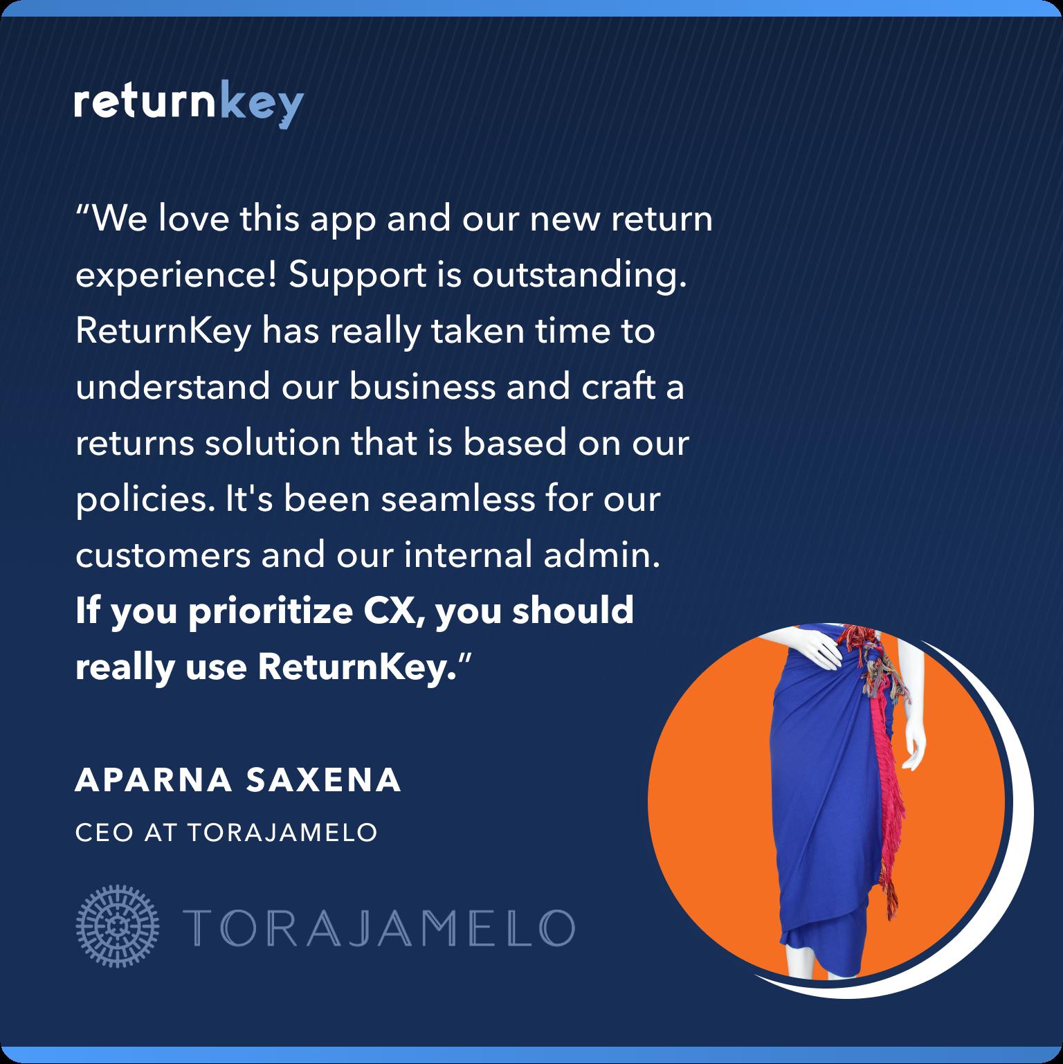 Tora Testimonial for ReturnKey