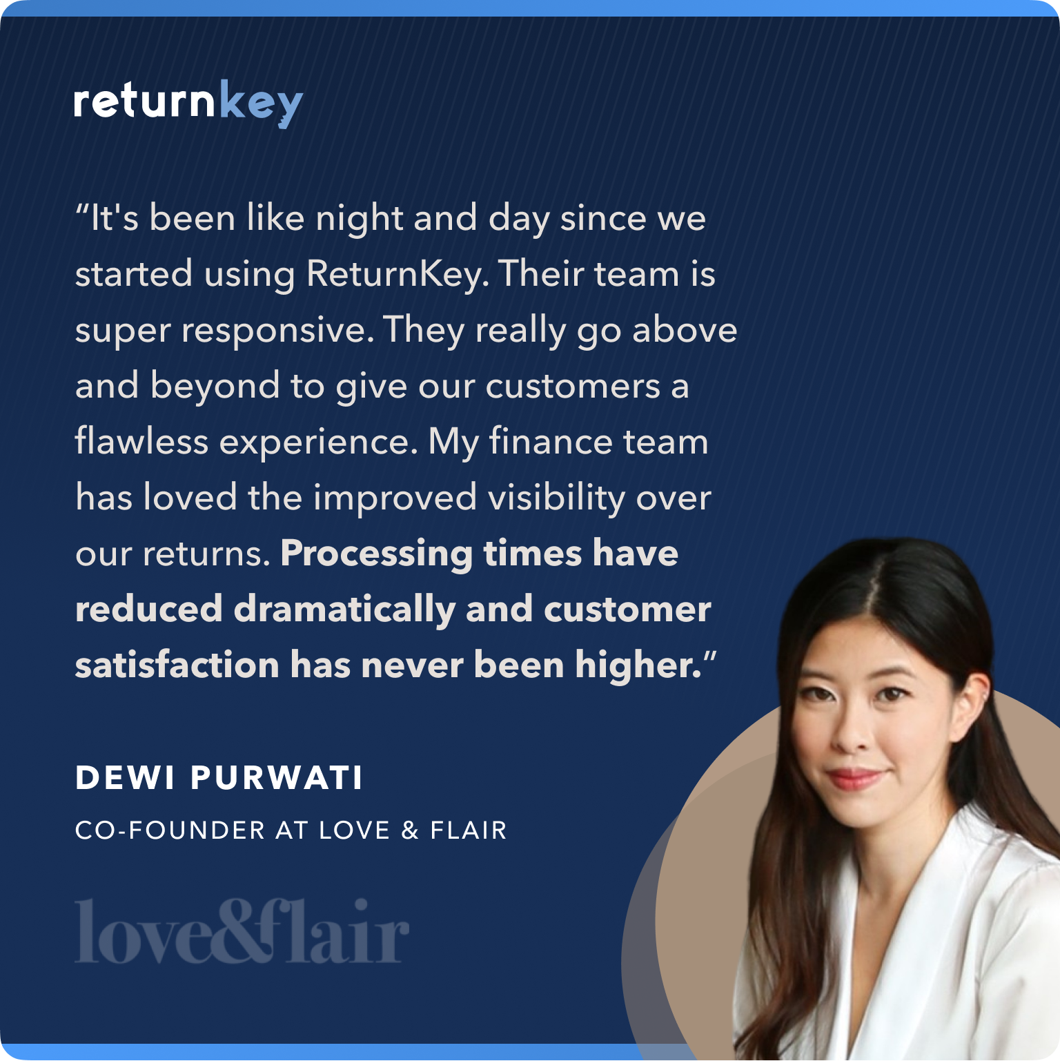 Love and Flair Testimonial for ReturnKey