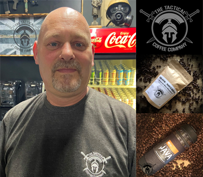 A photo of Darran Gray of the Tactical Coffee Company