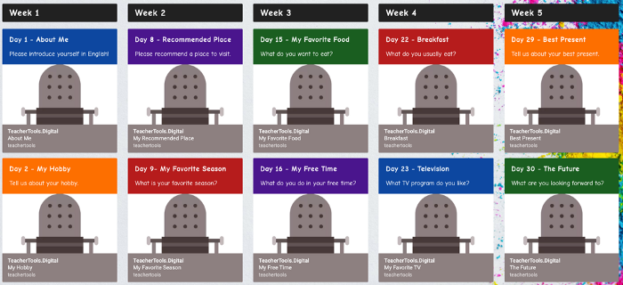 An image of Padlet with links to ZenGengo Audio Recording assignments