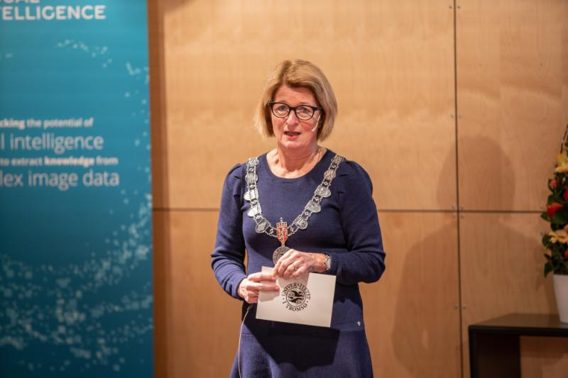 UiT's Rector Anne Husebekk opened the new SFI under the auspices of UiT, Visual Intelligence.