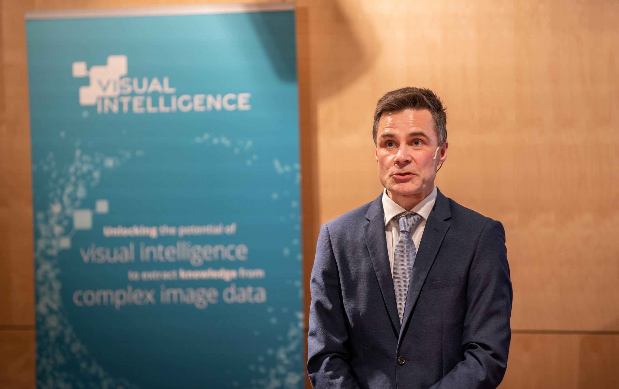 Robert Jenssen at the opening of SFI Visual Intelligence. PHOTO: JONATAN OTTESEN / UIT