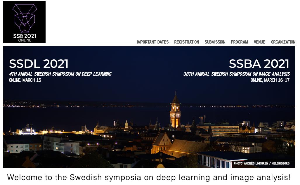 Swedish symposia on deep learning and image analysis 2021