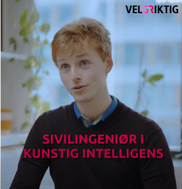 In the promotion film (in Norwegian) Master student Harald talks about how artificial intelligence is used to detect cancer by analyzing different image types. The machine sees patterns that we cannot see and alarms us when it detects deviations.