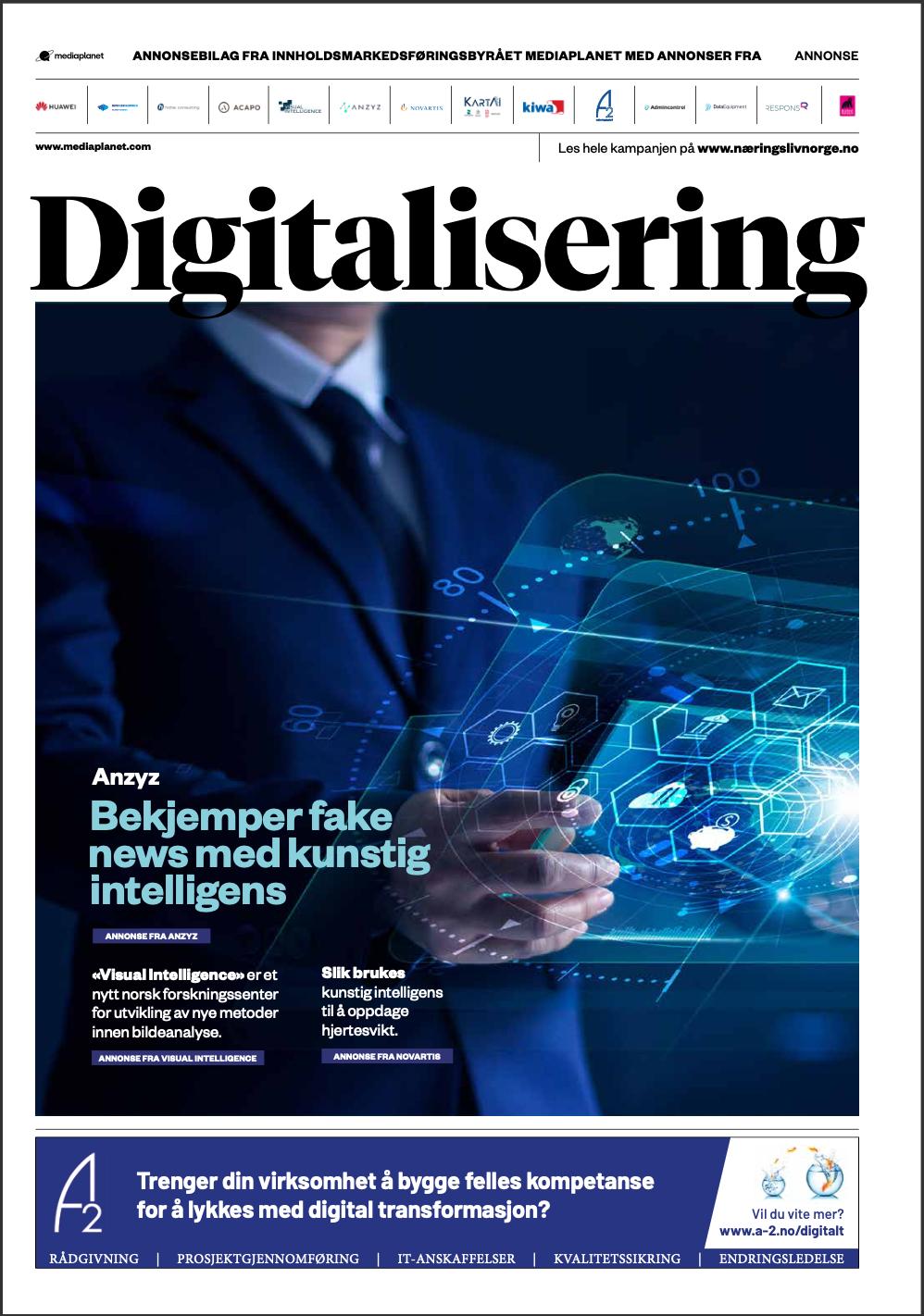 Forsiden av Digitalisering hvor Visual Intelligence er framhevet.
