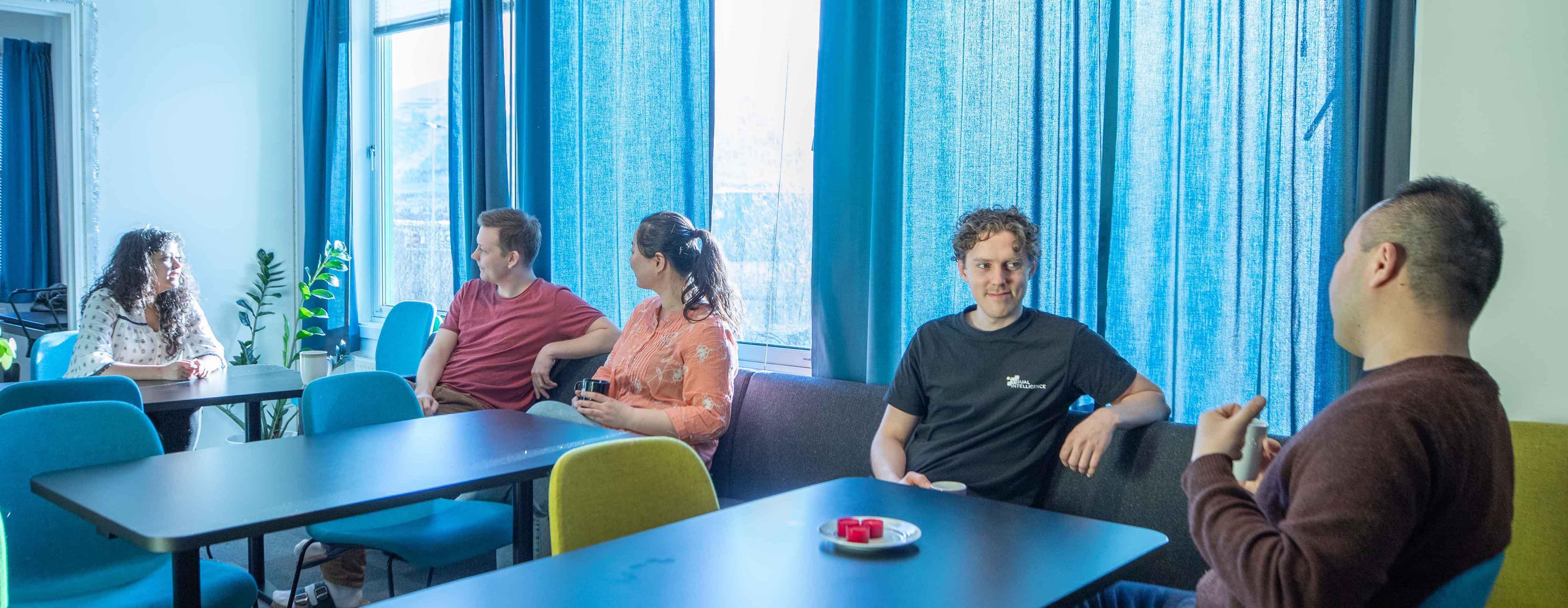 Social hangout at Visual Intelligence in Tromsø