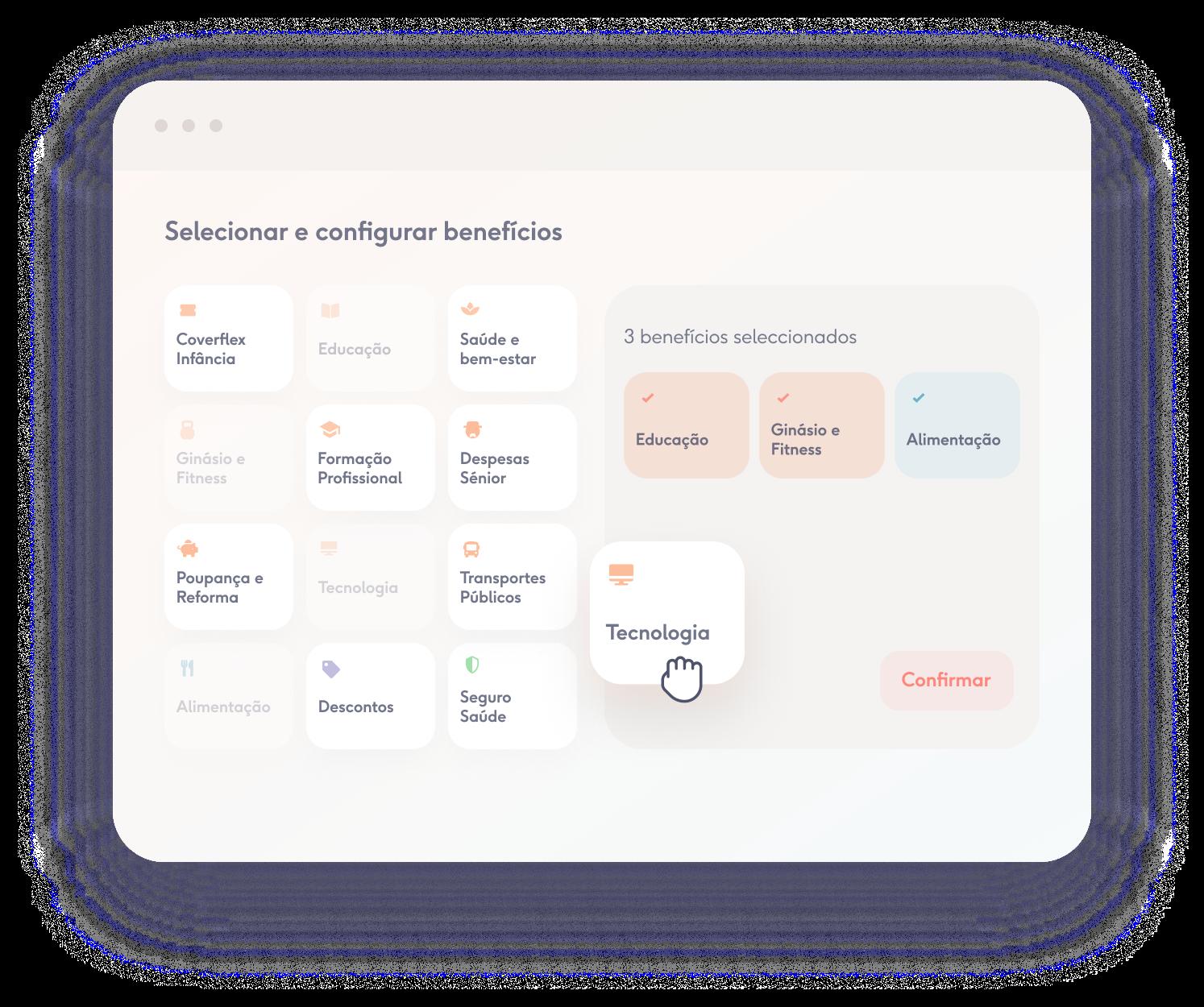 plataforma de benefícios flexíveis da empresa