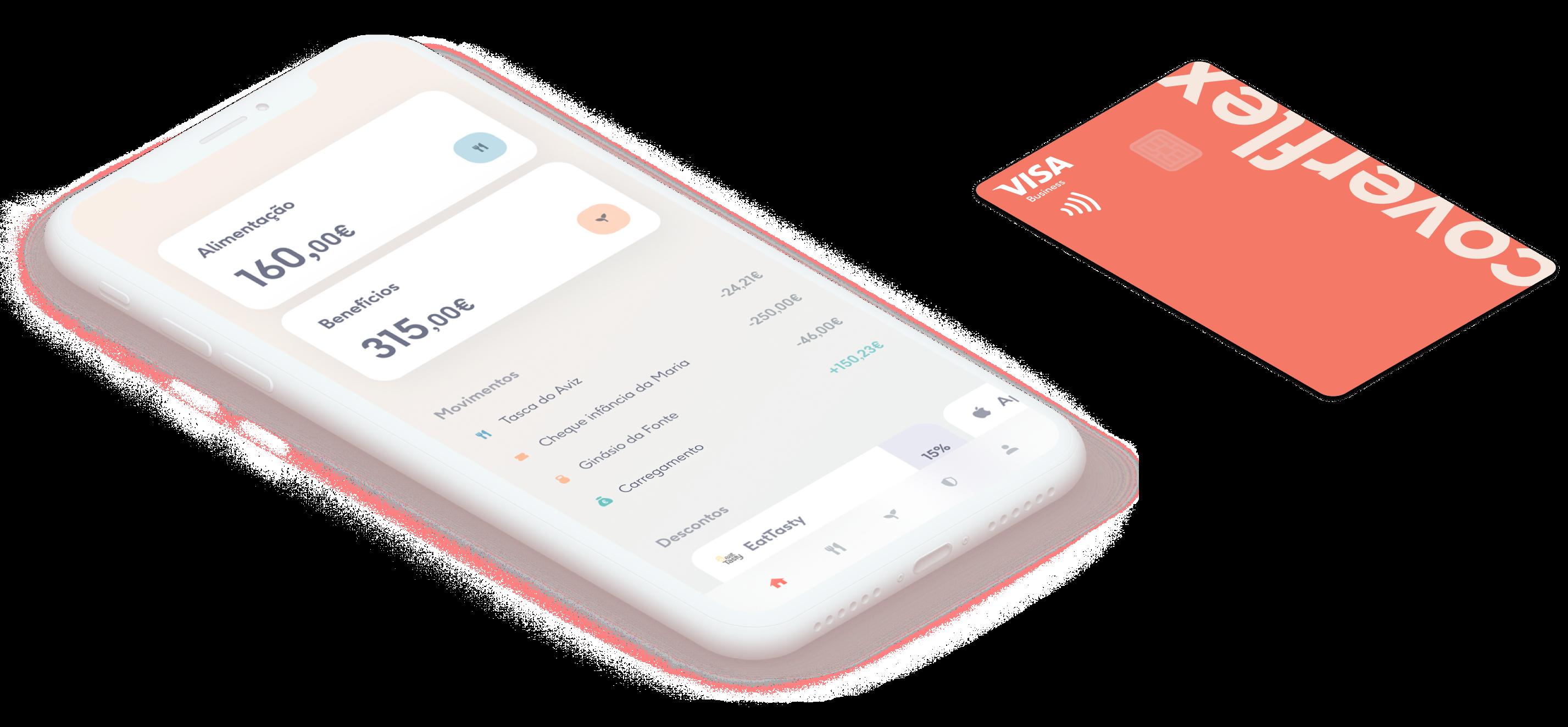 app e cartão de benefícios flexíveis e alimentação num só