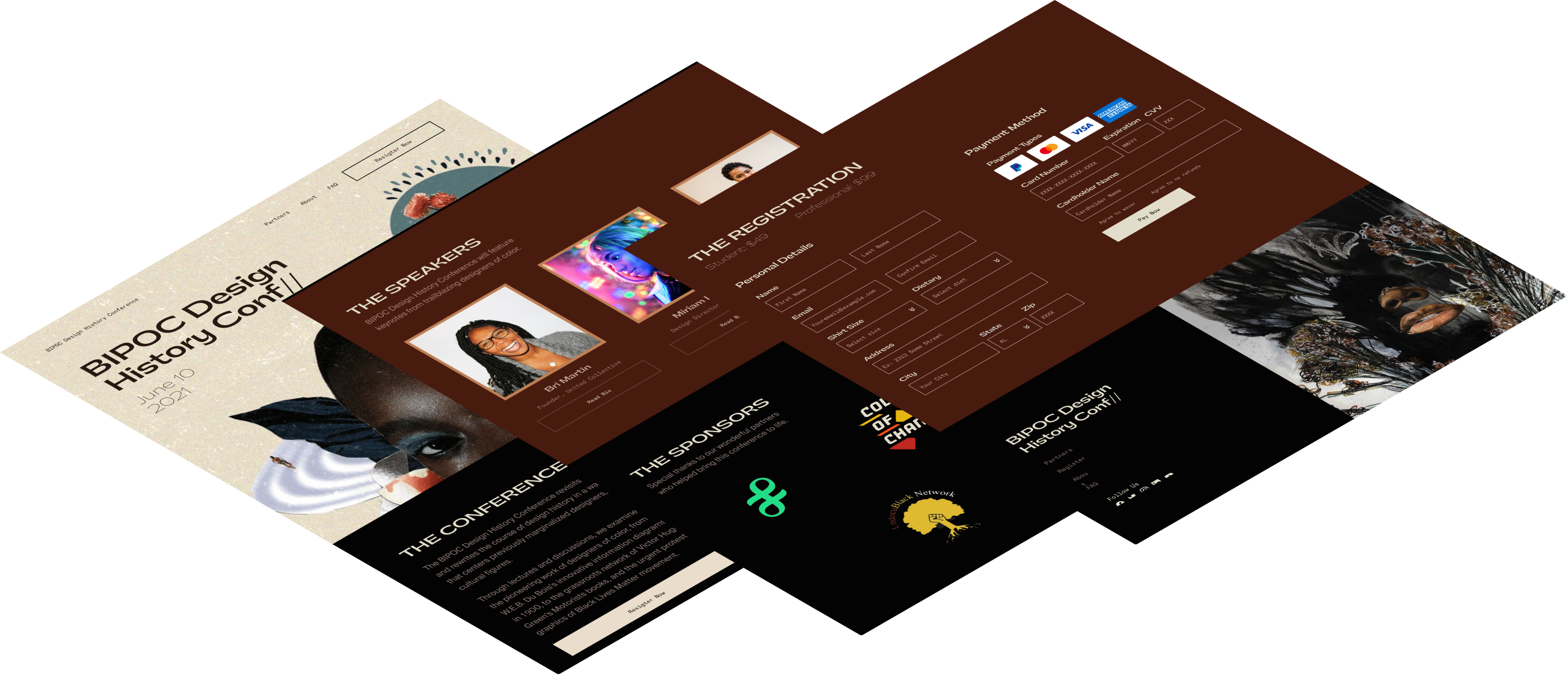 Designing an event landing page with payment and registration