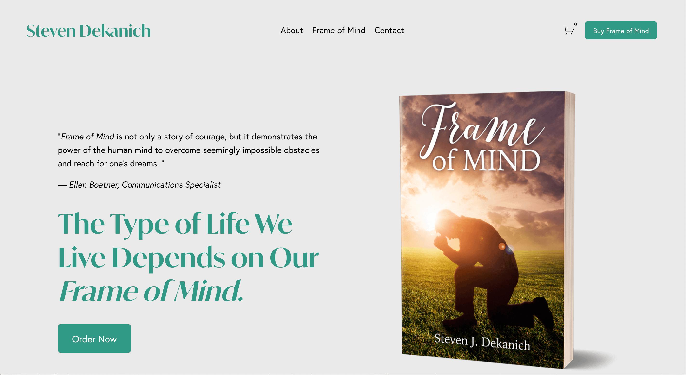 Frame of Mind Book