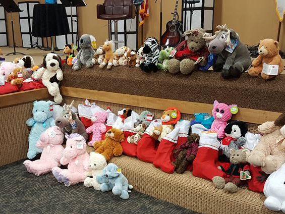 Sanctuary with foster exchange gifts on it.