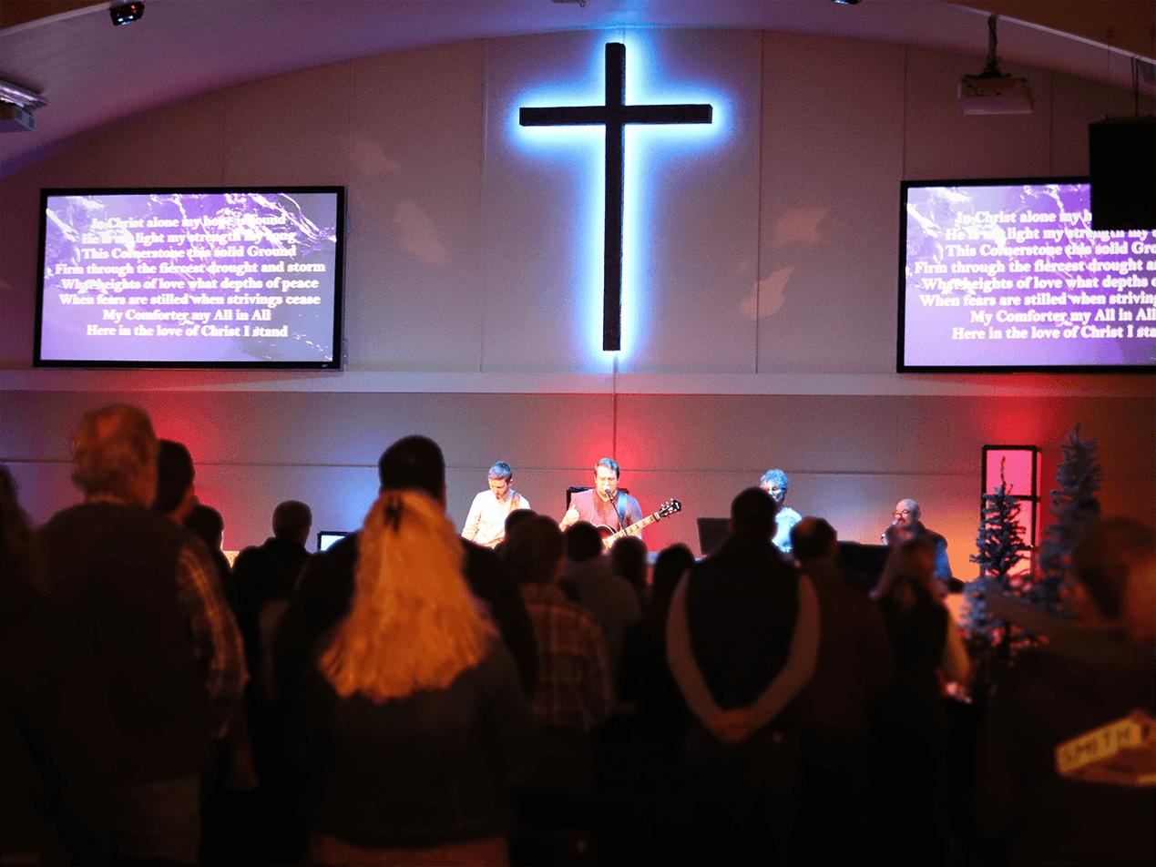 Worship Ministry team leading worship.