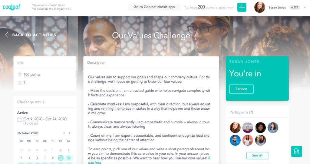 Virtual activities bring workplace core values to life