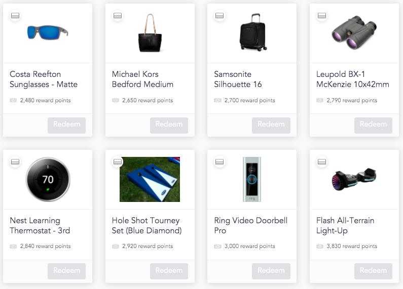 Cooleaf rewards catalog