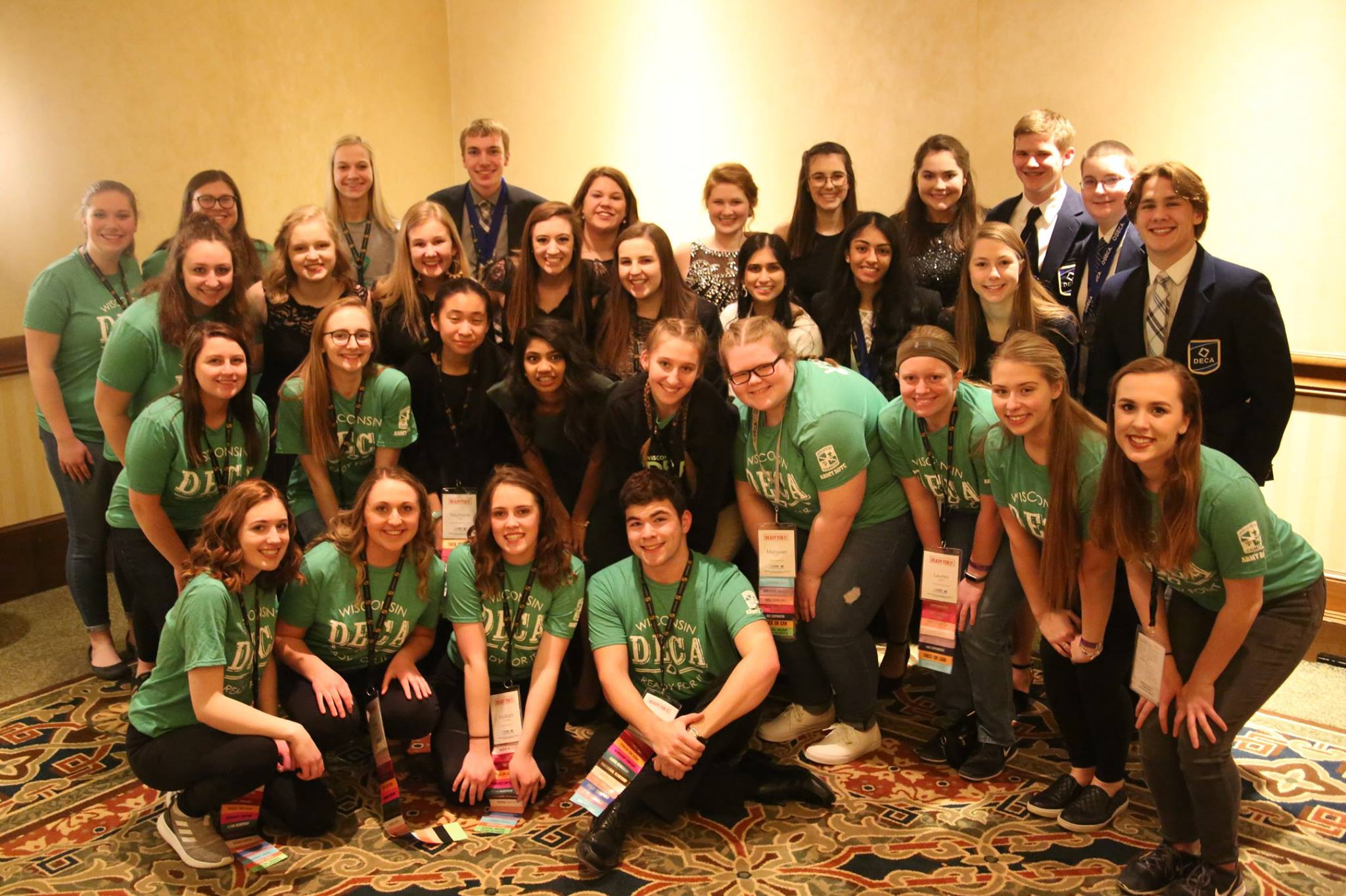 Group of students at WI DECA SCDC