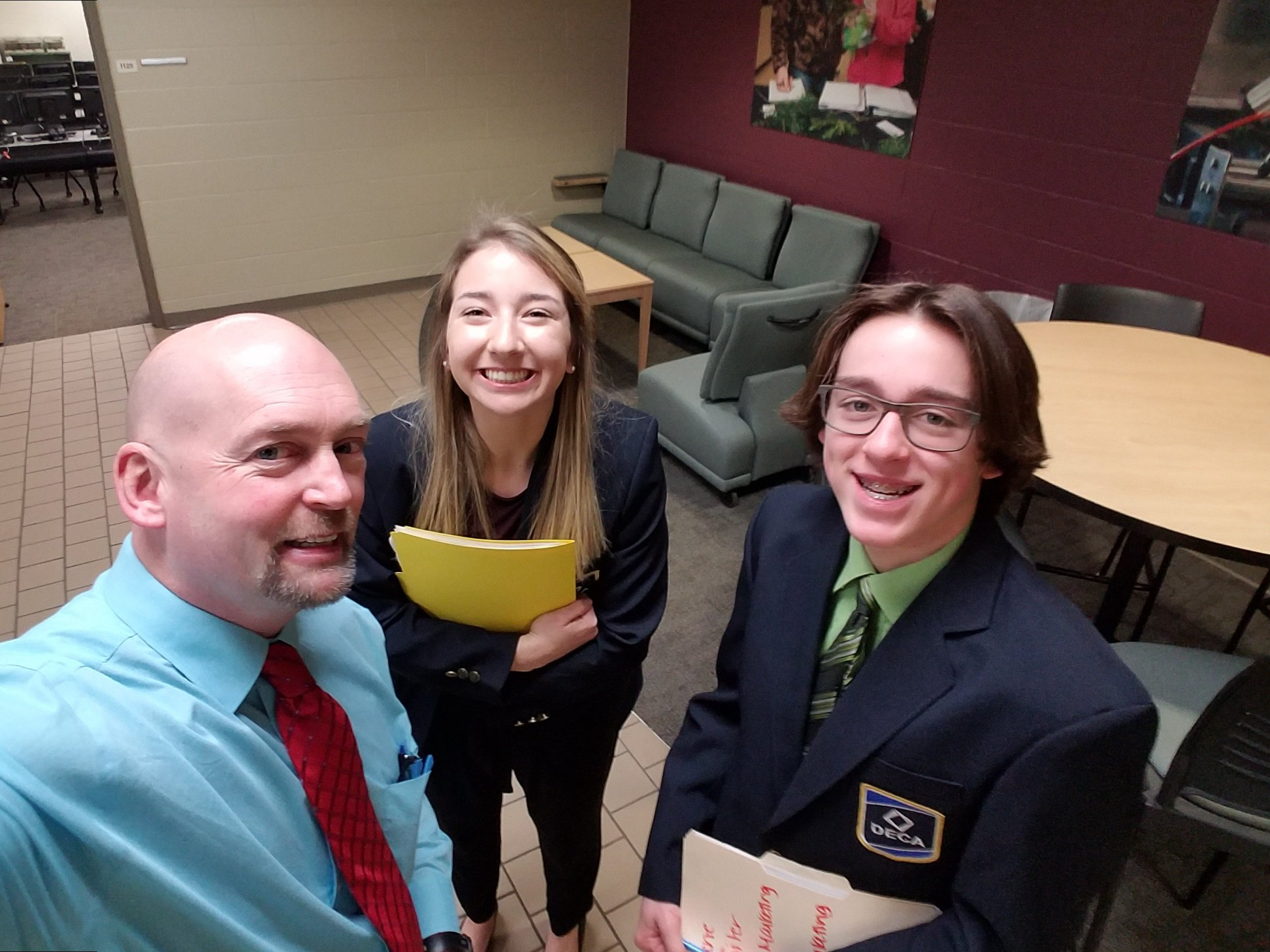 Student at WI DECA District 5 Conference