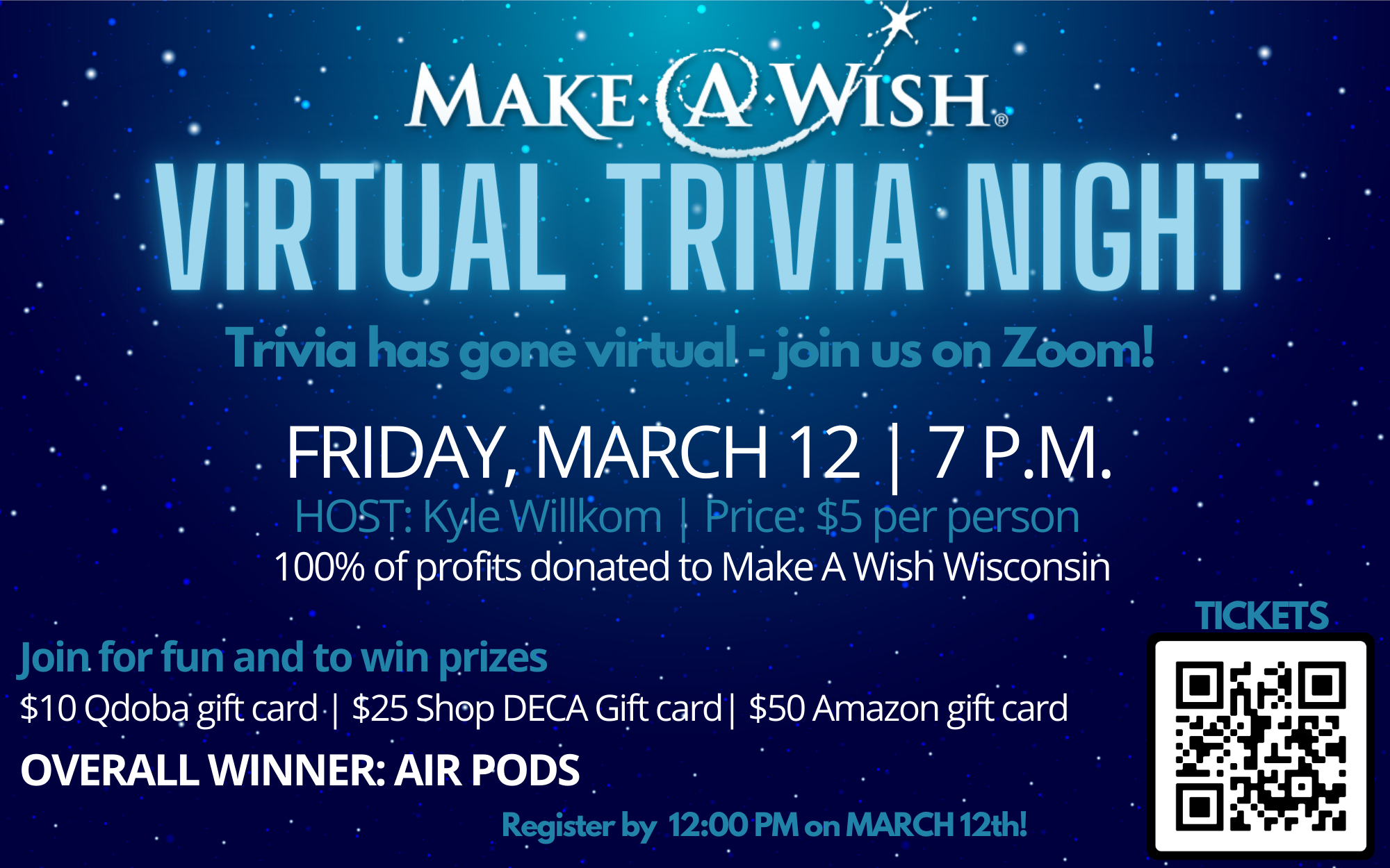 Make A Wish Trivia Night promo graphic
