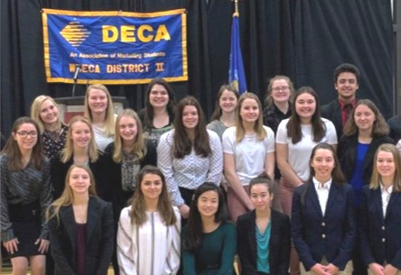 A group of students at the WI DECA District Career Development Conference