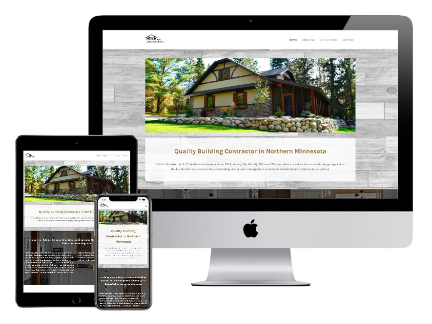 Hesch Construction website