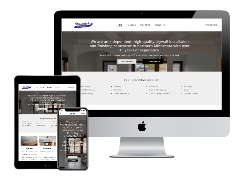 Waidelich Drywall website