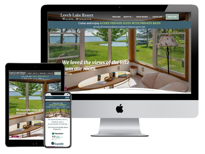 Leech Lake Resort B&B website