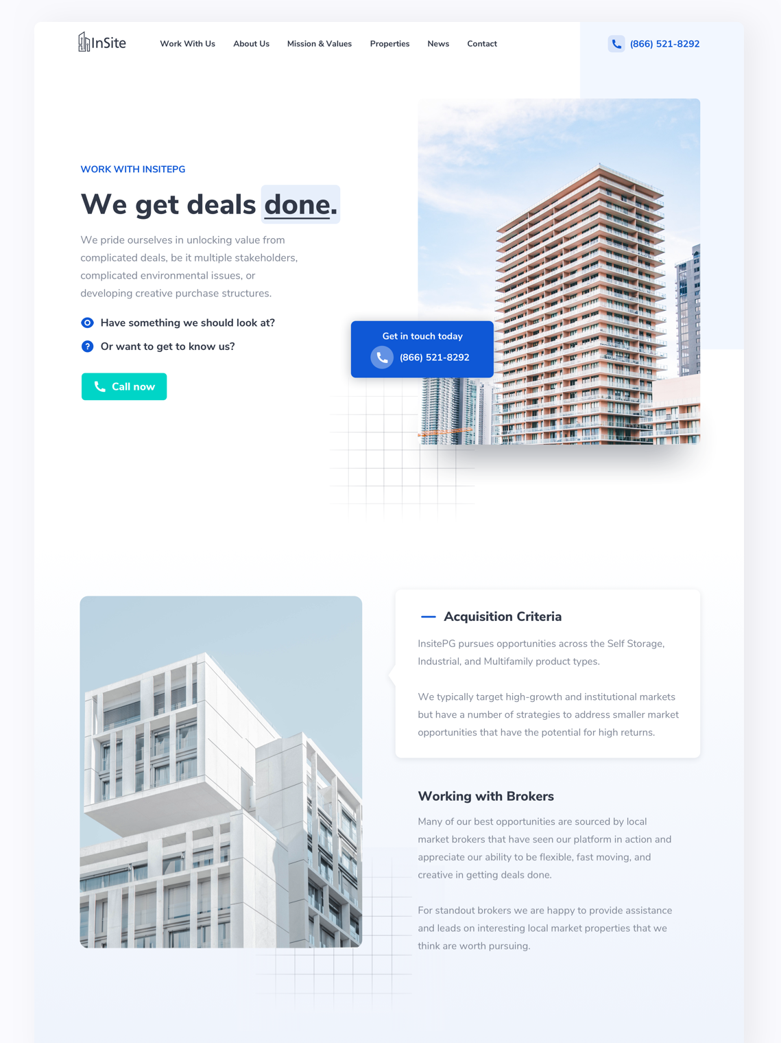 real estate architecture website design