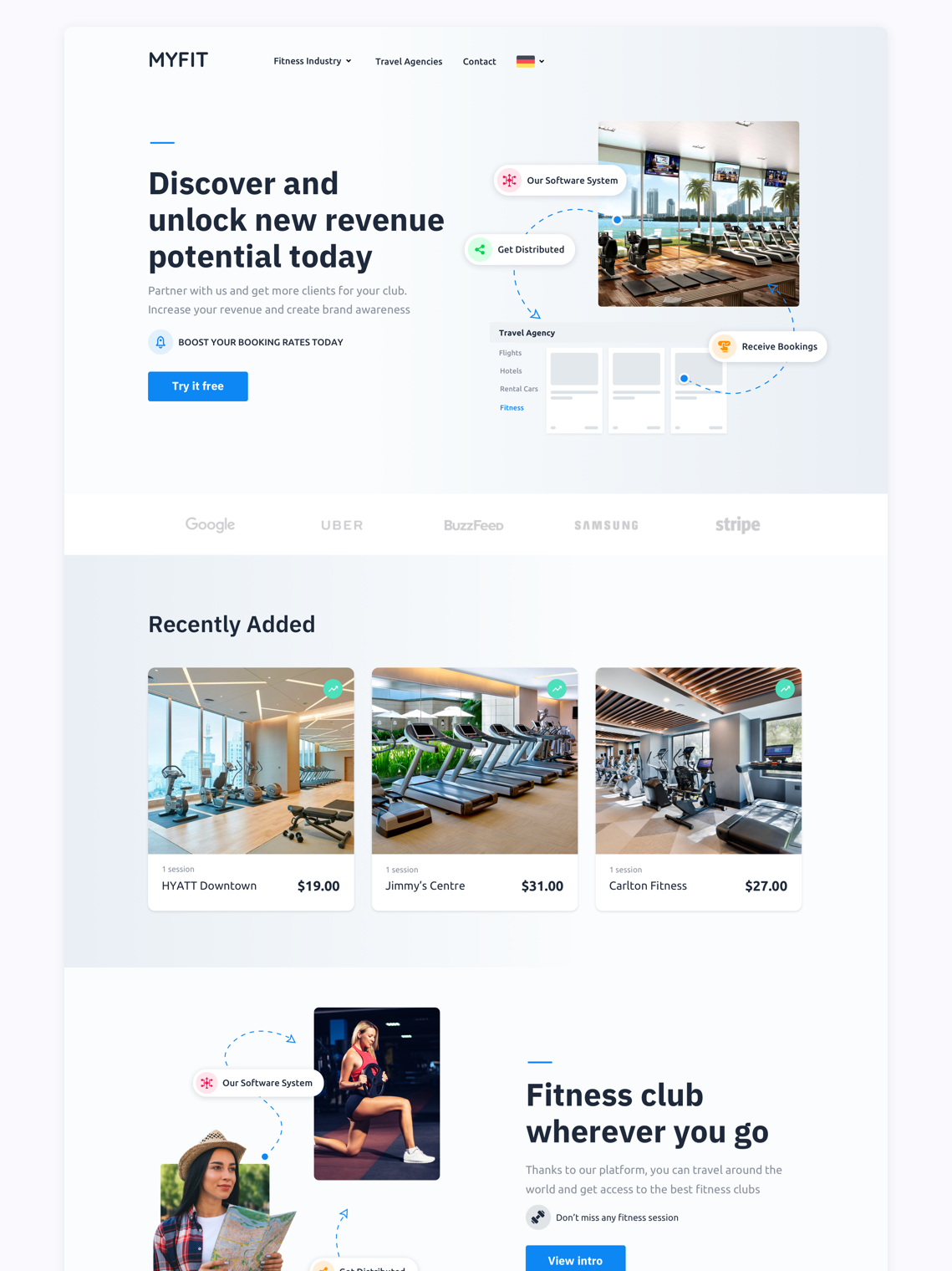 Fitness Club Website Design