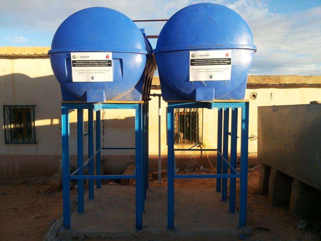 Programa de optimización de sistemas de almacenamiento de agua potable a nivel familiar en los CCRR saharauis en Tindouf (Sáhara)