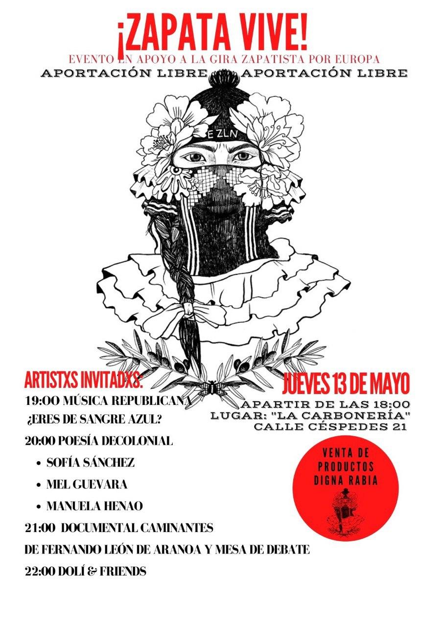 Evento de apoyo a la Gira Zapatista por Europa