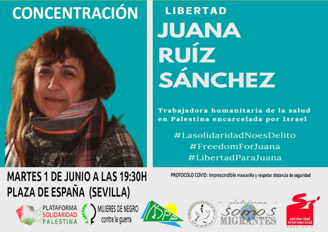 Concentración por la Libertad de Juana Ruíz Sánchez
