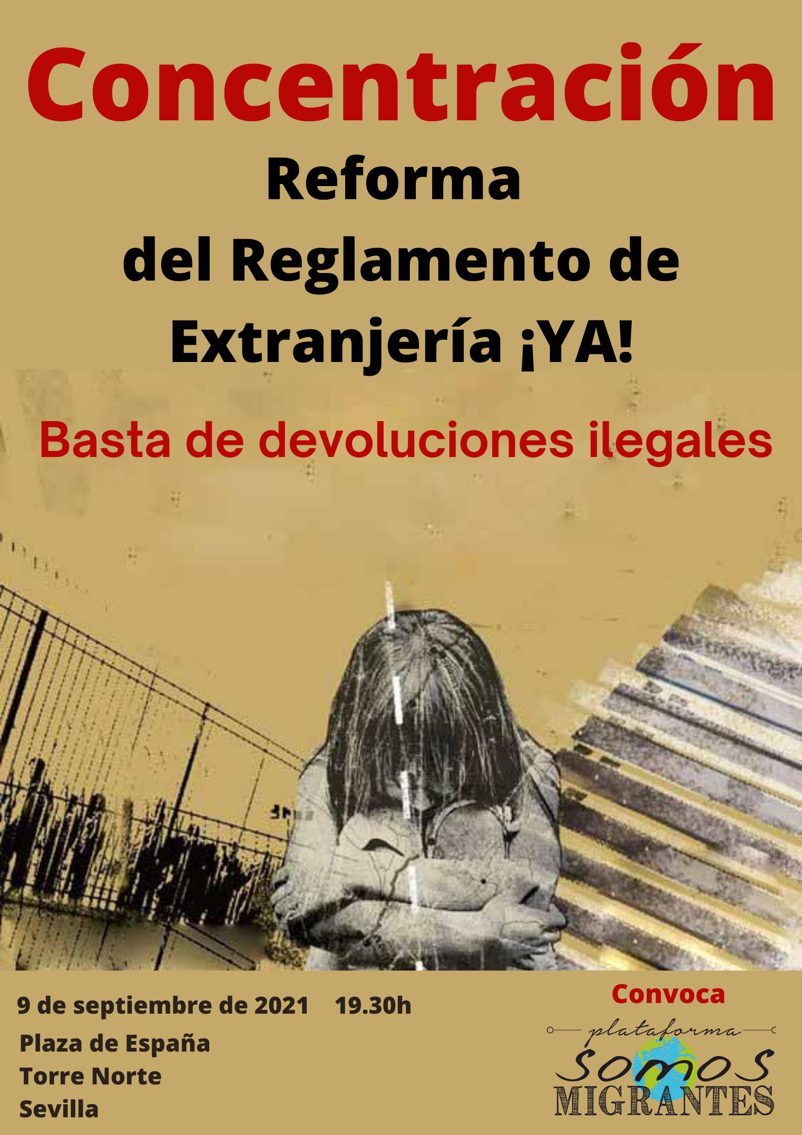 Concentración por la Reforma del Reglamento de Extranjería y en contra de las Devoluciones Ilegales