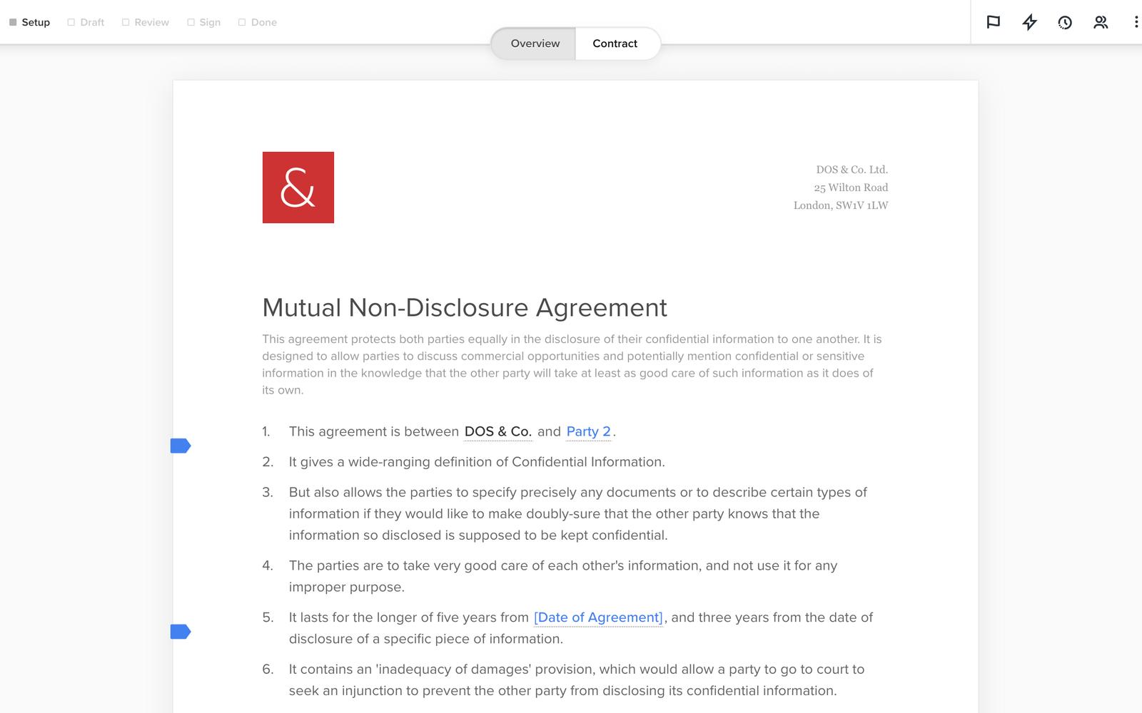 dos&co Digital Counsel screenshot