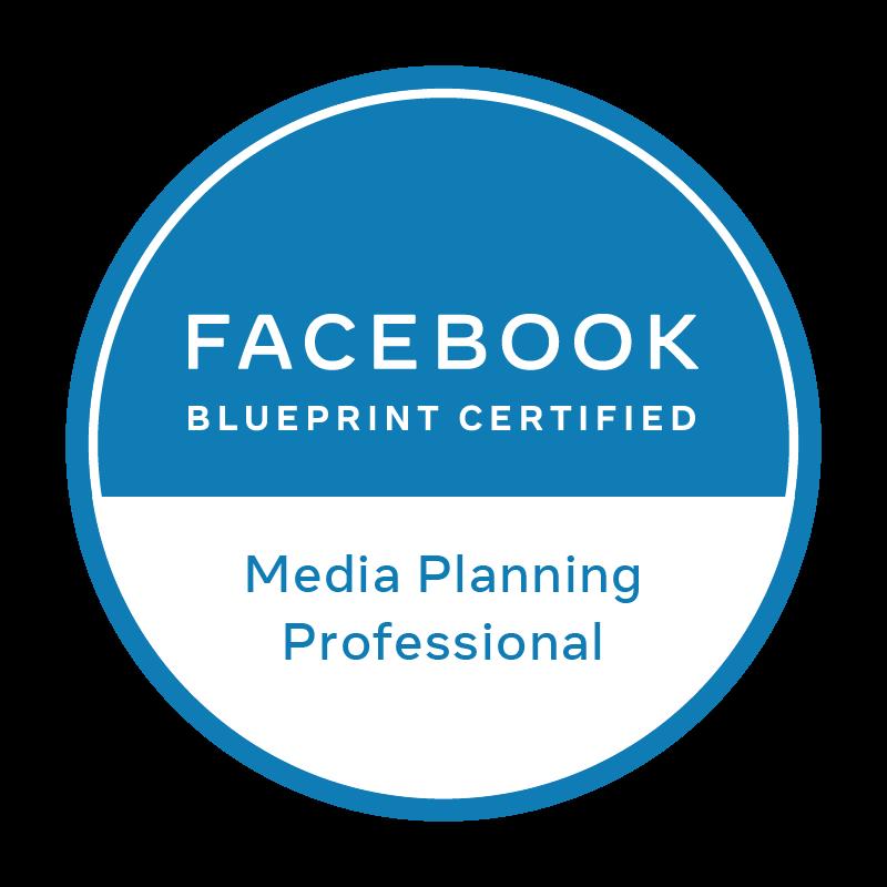 Logo certificado Facebook Blueprint Media Planning Professional