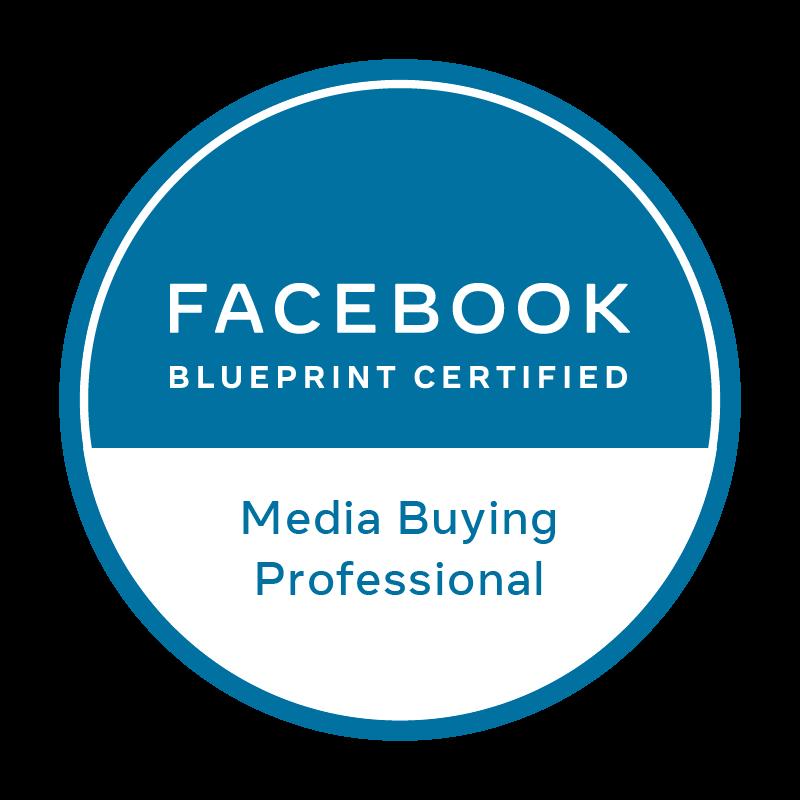 Logo certificado Facebook Blueprint Media Buying Professional