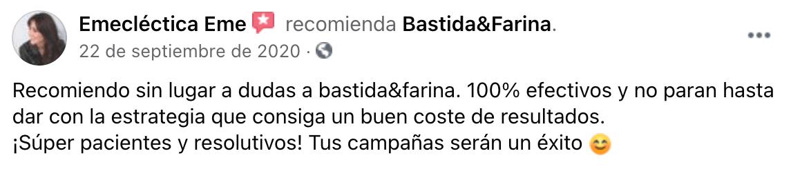 Testimonio sobre Bastida&Farina