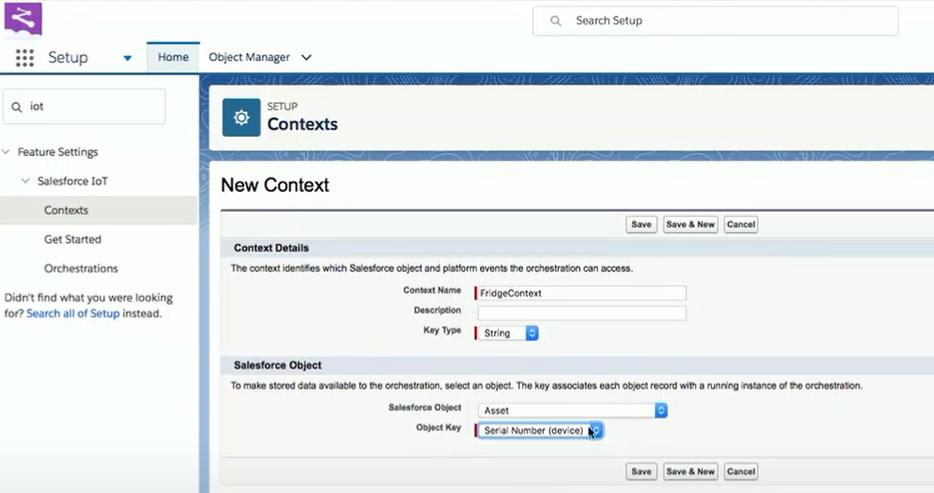Salesforce IoT Cloud Context