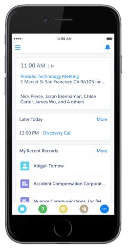 Salesforce mobile application