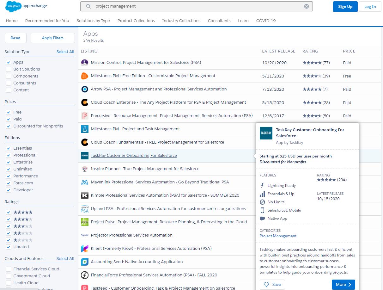 Project Management Salesforce App